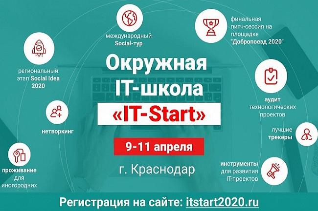На Кубани IT-школа социального предпринимательства начнет свою работу 9 апреля