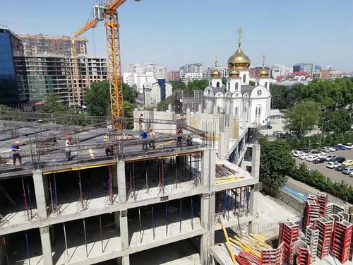 Завершаются работы по строительству каркаса нового здания детской краевой больницы в Краснодаре