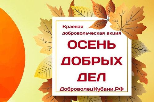Продолжается краевая молодежная акция «Осень добрых дел»